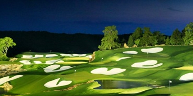 Arnold Palmer Practice Facility - Lit at Night